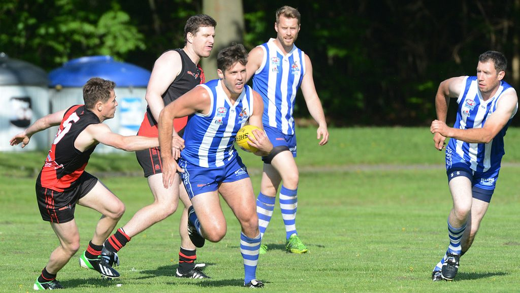 Action from Round 2 of the AFL Ontario Div 1 League - 2014